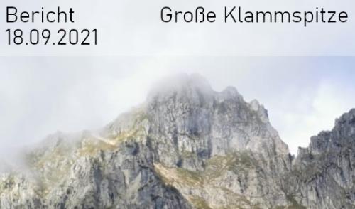 Artikelbild zu Artikel Große Klammspitze am 18.09.2021